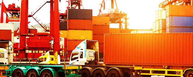 The container terminal at port