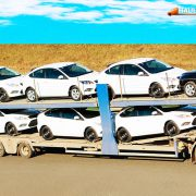 Car carrier truck transportation