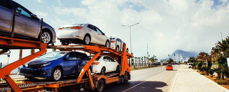 Auto transportation of a new cars
