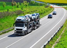 Truck transport new cars business
