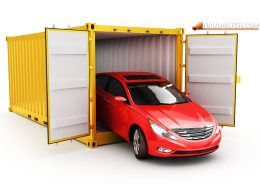 Freight transportation, shipment and delivery concept
