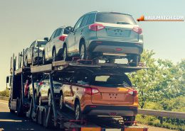 car transporting truck on the highway