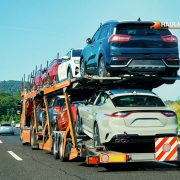 Cars carrier truck