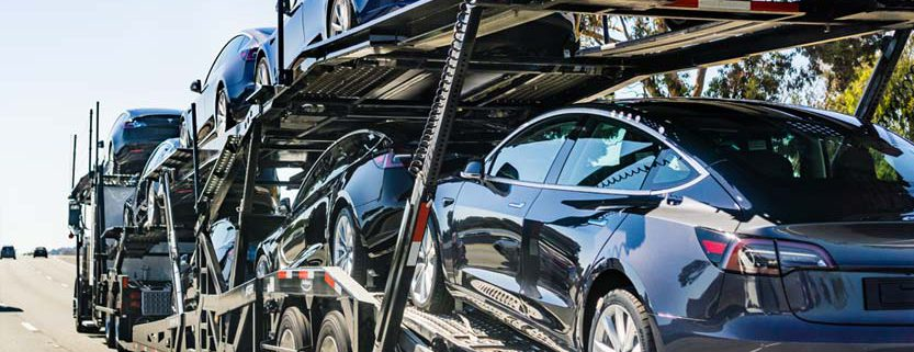 Tesla Cars being transported