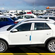 Cars For Export at Seaport Terminal